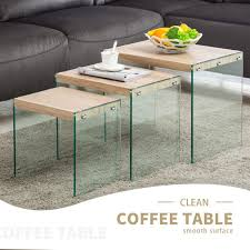 modern nest of 123 tempered glass coffee table side end roun round replacement south africa 840