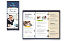 Brochure Templates On Microsoft Word Secretarial Services Tri Fold Brochure Template Design