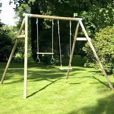 double baby swing single wood swing set double wooden swing set with wooden tze bar with double baby swing