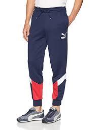 Puma Clothing Size Chart Uk Puma Mens Mcs Track Pants Medium Peacoat Amazon Co Uk