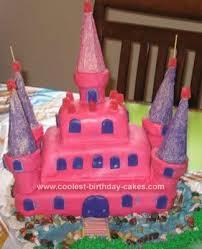 Coolest Pink Castle Cake Design