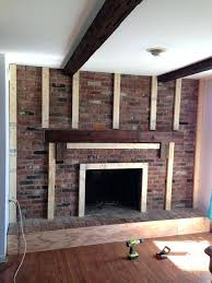 do it yourself fireplace remodels brick fireplace before and after fireplace redo before after made to