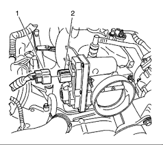 gmc envoy a diagram of the idle air control motor were