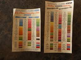 Vintage Jp Coats Thread Embroidery Color Charts Listing Boil