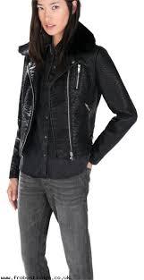 women fashion zara brand new faux leather fur collar biker motor coat s motorcycle jacket
