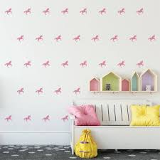 mini unicorns unicorn wall decals wall decor gift for her unicorn decor nursery decor gift for daughter unicorn vinyl wall decal