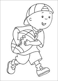 Caillou And Gilbert Coloring Pages Wesharepics Caillou Coloring