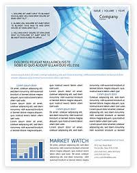 Microsoft Office Word Newsletter Templates Executive Newsletter Templates In Microsoft Word Adobe