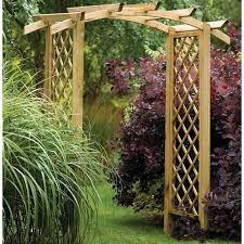 genoa wooden garden arch by forest garden