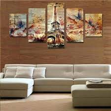 wall decor paintings 5 piece canvas art erfly tower home wall decor canvas picture art print wall decor paintings