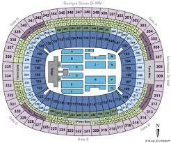 Beyonce Atlanta Seating Chart 23 Comprehensive Ga Dome Seating Chart Rows