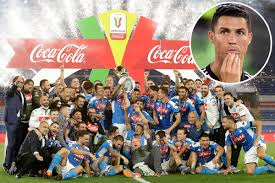 Action from the coppa italia final as juventus and napoli battle it out at the stadio olimpico in rome. Diego Maradona Leads Napoli Celebrations After Beating Maurizio Sarri And Cristiano Ronaldo S Juventus To Coppa Italia