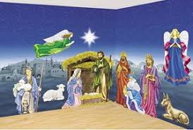 Christmas and Nativity Scene Setters background backdrops. Use as Christmas  or Nativity wall murals to decorate room walls for Christmas themes.