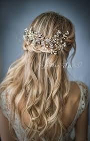 Coiffure De Mariage Boho Gold Silver Or Rose Gold Flower