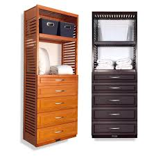 deep 6ft woodcrest storage tower with drawers