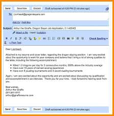 How To Mail A Resume And Cover Letter Format Of Email For Sending