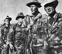 A troop of French soldiers confident in defeating the FLN in Algeria.