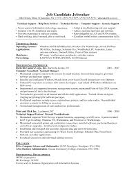 Resume Examples Technical Support Specialist Archives