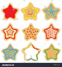 christmas star cookies. Wonderful Cookies Set Of Decorated Christmas Star Gingerbread Cookies On White Background With Star Cookies M