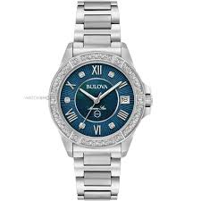 "diamond watches watch shop comâ""¢ ladies bulova marine star diamond watch 96r215"