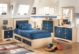 creative bedroom furniture. Cool Boys Bedroom With Cream And Blue Furniture Combination Idea Creative N