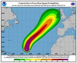 Atlantic Wind Charts Hurricane Lorenzo In Eastern Atlantic Path Forecast Of