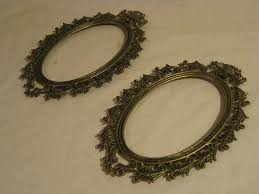 details about 2 vintage ornate metal frames oval antique style wall decor picture photo frame