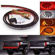 60 Inches Red/White/Amber Truck Tailgate LED Strips Light Bar Truck ...