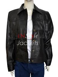 jessie j fringe new york concert leather jacket