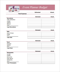 Simple Budget Plan Free 9 Budget In Samples Example Format