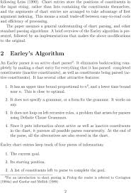Chart Parsing Improving Upon Earley S Parsing Algorithm In Prolog Pdf