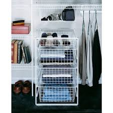 closetmaid 29 in h drawer kit with 4 wire baskets wire closet organizer starter kit with
