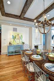 dining room design dining room artwork dining room beamed ceiling dining room blue the dining room lighting is the griffin rope chandelier from pottery
