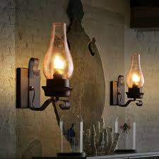 wall lantern indoor. Vintage American Industrial Iron Wall Lamps Clear Glass Candle Lampshade For Home Bar Restaurant Indoor Lantern L