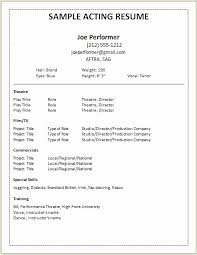 Theatre Resume Template The Best Way To Write Powerpoint Book