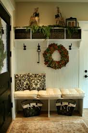 Fab entry way/mud room! Like the Beadboard section of it.