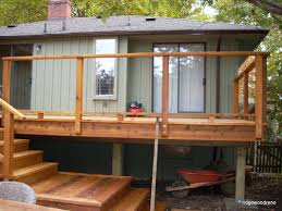 ridgewood construction victoria bc cedar sundeck and railings