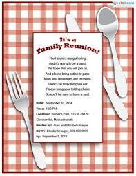 Printable Family Reunion Invitations Family Reunion Invitation Lovetoknow