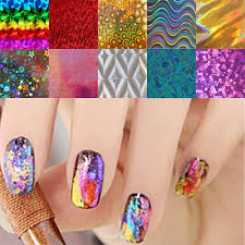 10pcs/lot Nail Art Transfer Foils Stickers Super Beautiful Nail ...