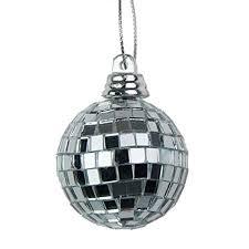 Mini Disco Ball Decorations Silver Mini Disco Mirror Ball Christmas Tree Bauble Home Party 21