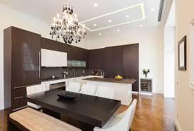 Concept Dark Wood Modern Kitchen Cabinets Cabinet With White Island In Design Decorating