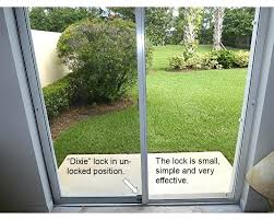 how to unlock a sliding glass door from the outside get out