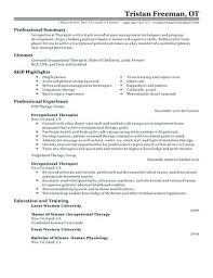 occupational therapy resume. sample ot resume resume tutorial pro
