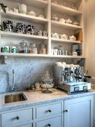 kitchen coffee station open shelving ideas kitchen cabinet coffee station