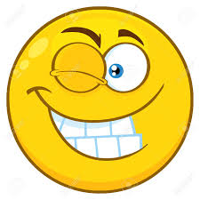Smiling Yellow Cartoon Smiley Face Character With Wink Expression