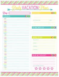 Vacation Planner Printables Thumper Pinterest Vacation Planner