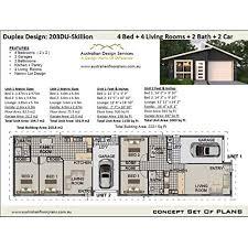 skillion roof duplex design 4 bedroom