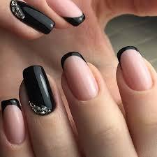 black nail art ideas french nail designs