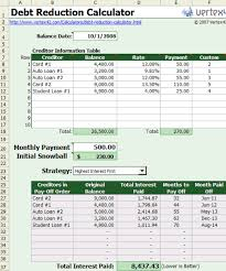 Free Excel Based Debt Reduction Calculator To Payoff Credit