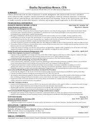 Cfa Resume